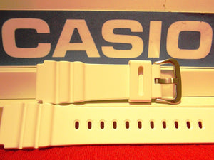 Casio watchband AMW-380, White Resin  w/Pins 20mm. Fits Most 20mm Watches