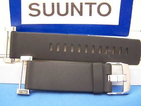 Suunto watchband Core Flat Black w/Attaching Pins/Lugs