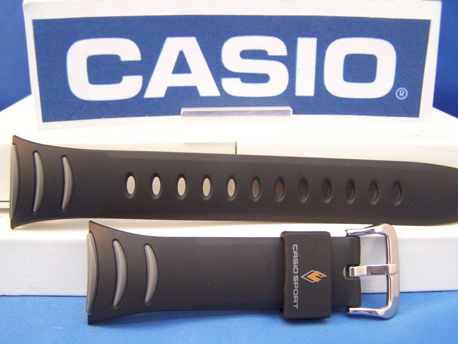 Casio watchband PRG-100  Twin Sensor Black Resin  w/ Gray Decor