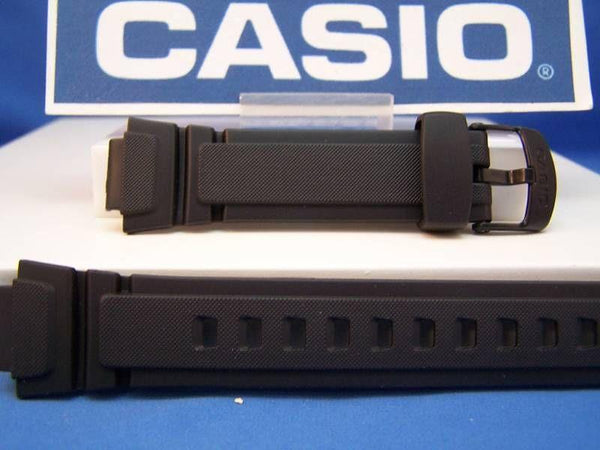 Casio watchband AQ-180 & W-213 Black: Rubber/Logo buckle