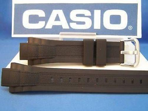 Casio watchband MDV-301 Black Resin  With Attaching Pins