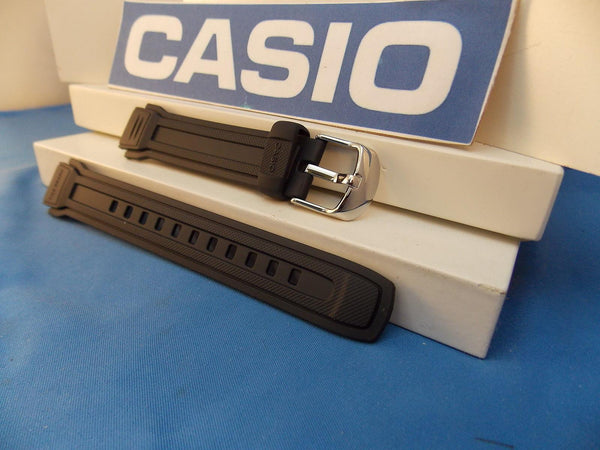 Casio watchband AQF-100 W-7BVW Tide Graph Black Resin  / Watchband