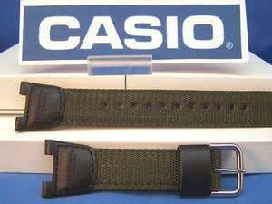 Casio watchband SGW-100 B-3.Compass Thermometer Black/Green