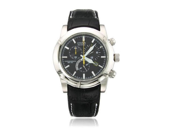 Citizen watchband ECO Drive Model AT0550-03E Black Leather
