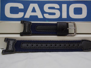 Casio watchband PRS-400 B-2 blue Leather/Nylon .Fishing Gear Moon Graph