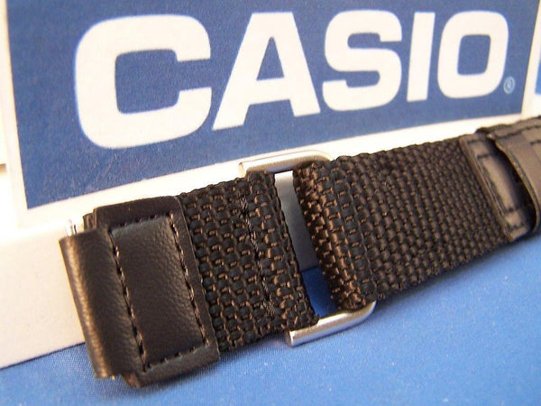 Casio watchband AW-80V-1 Black NylonGrip .  Fits most 18mm Sports Watches