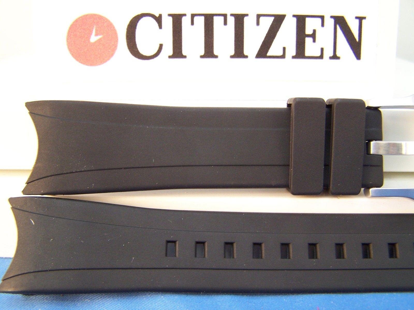 Citizen watchband BJ2115 -07E, back# B740-5064023 Blk Resin Eco-Drive Aqualand
