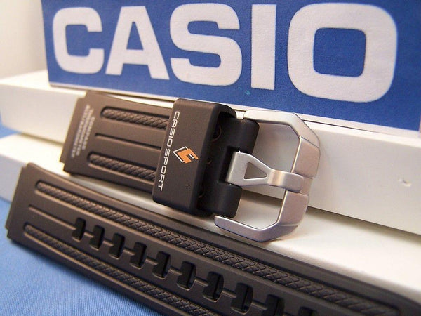Casio watchband PRG-80, PAW-1100, PAG-80, PRW-1000. Pro Trek Black Rubber