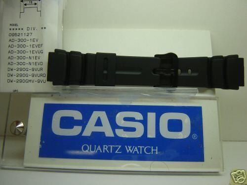 Casio watchband DW-290 AD-310 and fits most any man's 19mm wide sport watch