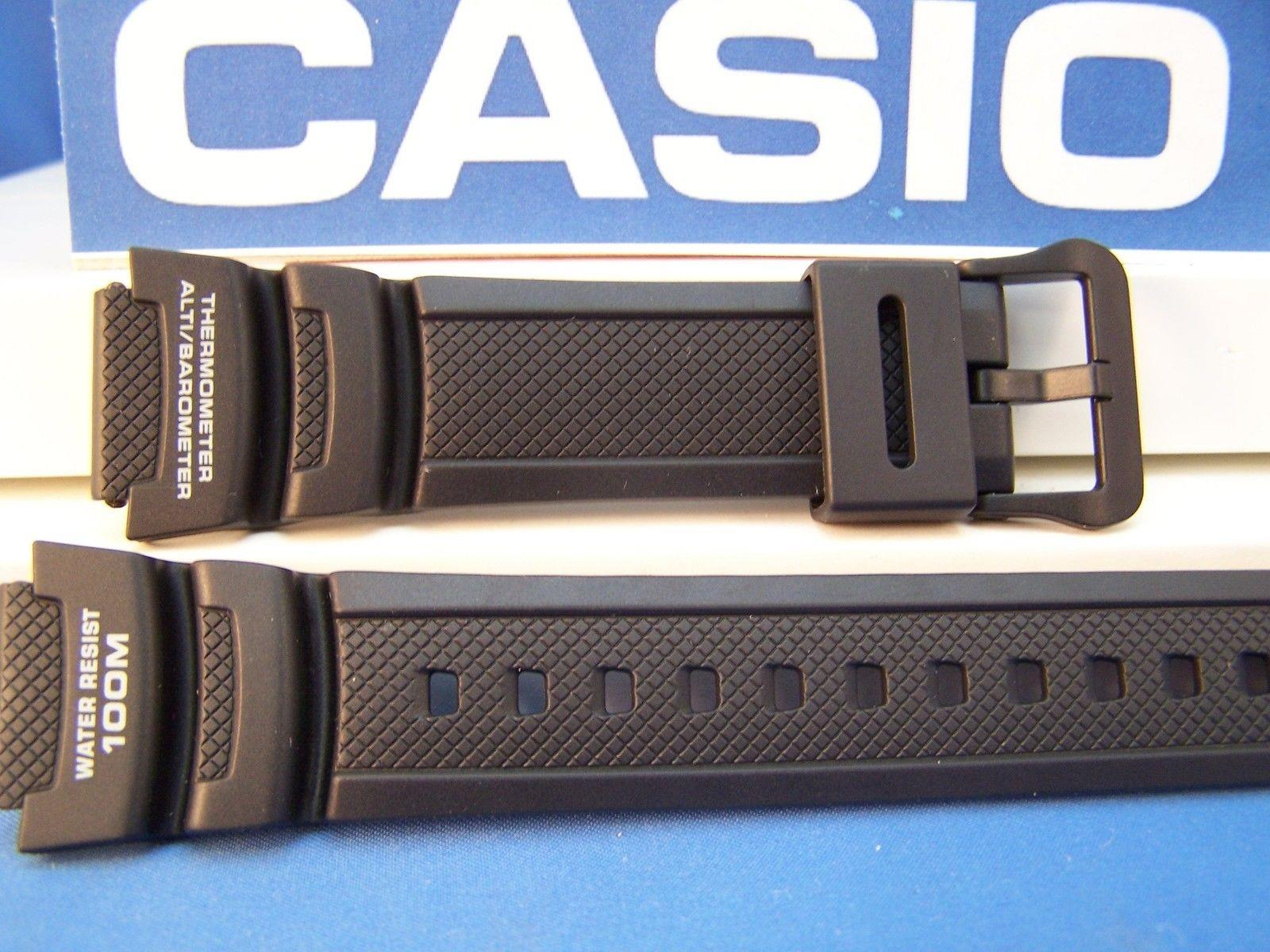 Casio watchband SGW-400 & SGW-300 Blk Rub  Twin Sensor Altimeter/Barometer