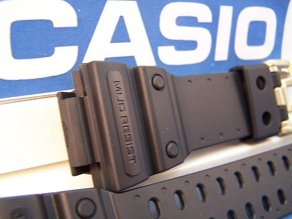 Casio watchband GXW-56 GB-1V.G-Shock Mud Resist Black Rub  gold tone buckl