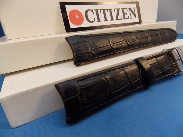 Citizen watchband BL8000 -03A Black Leather Eco Drive 20mm Curved End