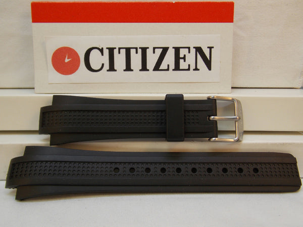 Citizen watchband AT0786 -07E Black Rubber Eco-Drive Chronograph