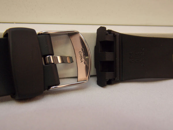 Casio watchband WVA-430, WVA-470, WVA-620, WVQ-400 Black Rub Waveceptor