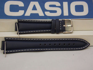 Casio watchband EF-506 L-7 Dark blue Leather  Watchband