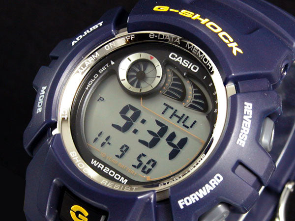 Casio Watch Parts G-2900 F-2 Bezel blue G-Shock Shell w/ Yellow & White Letters