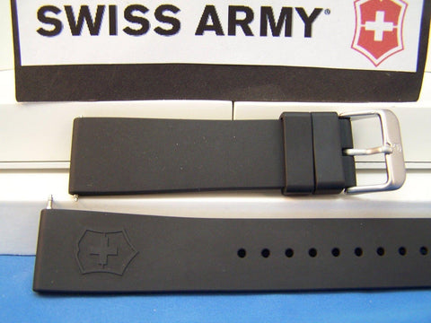 Swiss Army watchband Maverick ll (2) Man's black Rubber 22mm  Sports Band