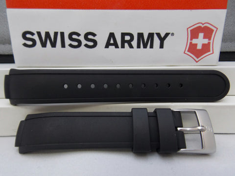 Swiss Army watchband Mans Base Camp Black Silicone Rubber