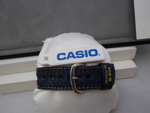 Casio watchband BG-151 Denim Yellow Outline Stitched.One Piece 20mm Baby G File