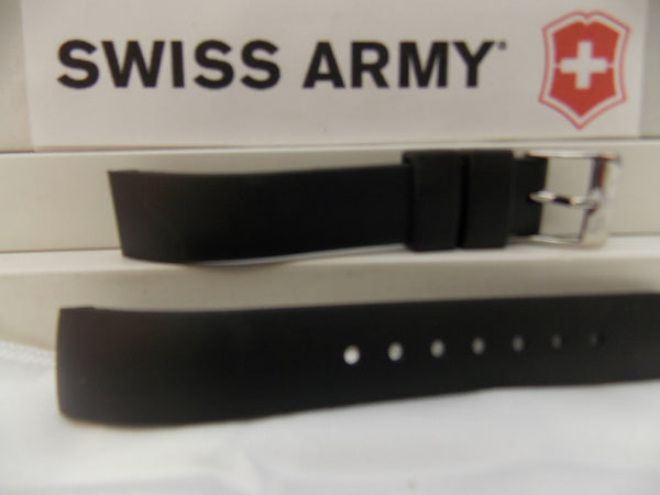 Swiss Army watchband Alliance 24664 Ladies Black Rubber 15mm Curved End
