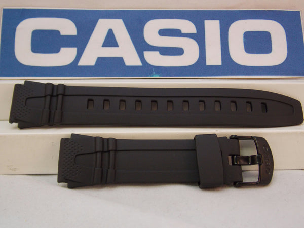 Casio Watchband HDD-600 18mm Black Resin Illuminator Sport Strap Watchband