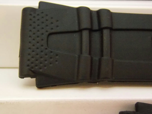 Casio watchband HDD-600 18mm Black Resin Illuminator Sport  Watchband