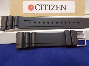 Citizen watchband BN0100 -00E Black Rubber Divers 200m ECO-Drive & BJ2111 -08E