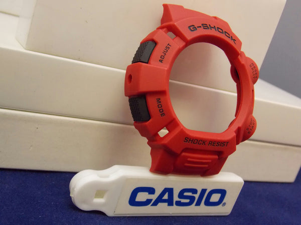 Casio Watch Parts G-9000 Mx-4 Bezel / Red W/Black Push Pads. G-Shock