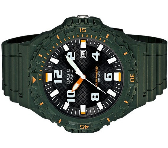 Casio watchband MRW-S300 H-3BV Miltary Green Rubber . Watchband