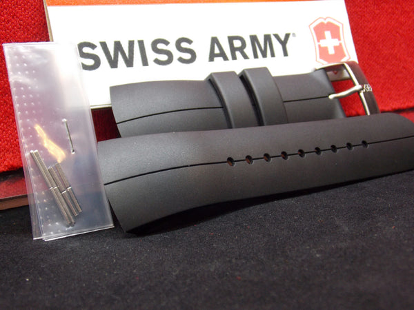 Swiss Army watchband ST3000 Black Rubber .For StarTech 3000 Digi/Ani Watch