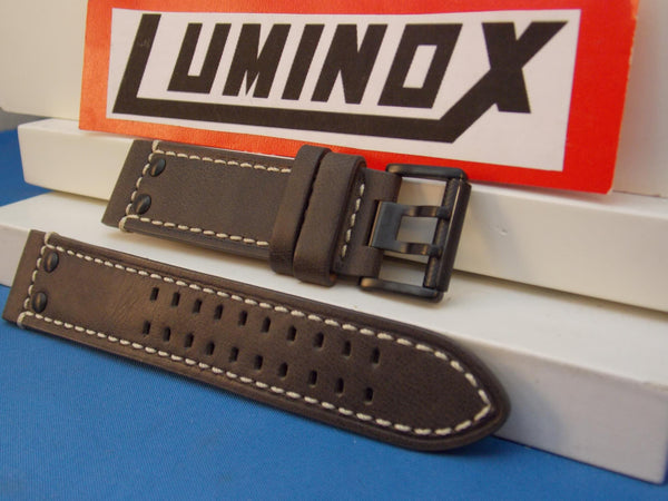 Luminox watchband Series 1820/1840,Brown Leather w/White Stitch Model 1837,23mm