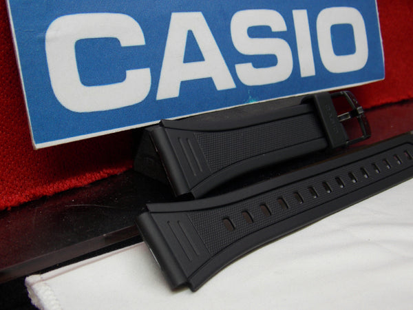 Casio watchband W-201 Black Resin  for Illuminator model 18mm X 23.5mm
