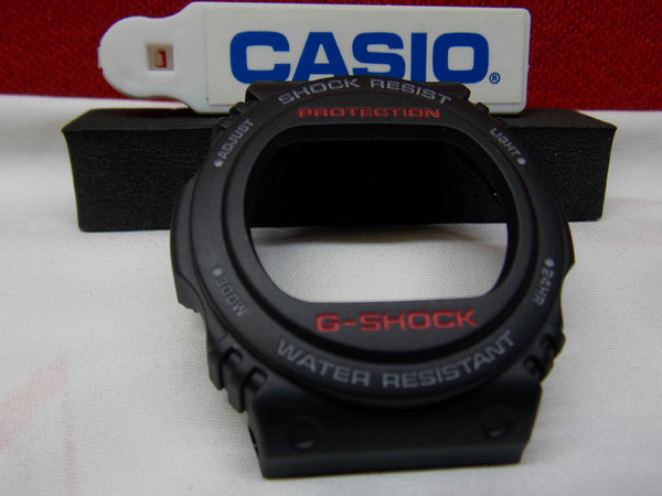 Casio Watch Parts G-5700 Bezel/Shell Black w/ Red and White Printing for G-Shock