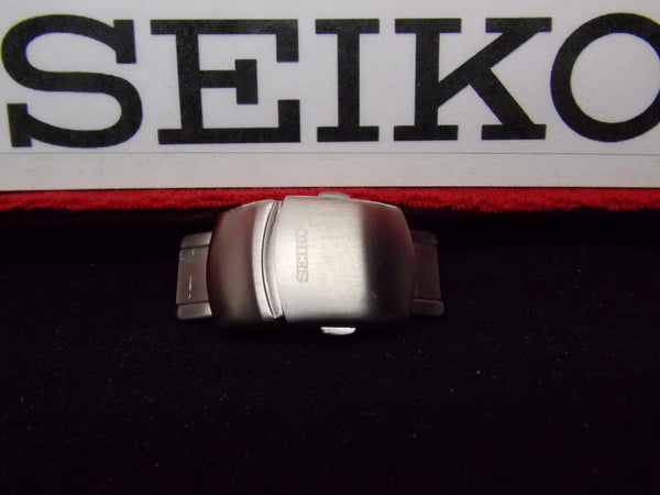 Seiko Watch Parts 17mm Push Button Butterfly Deployment Buckle All Steel W/Pins