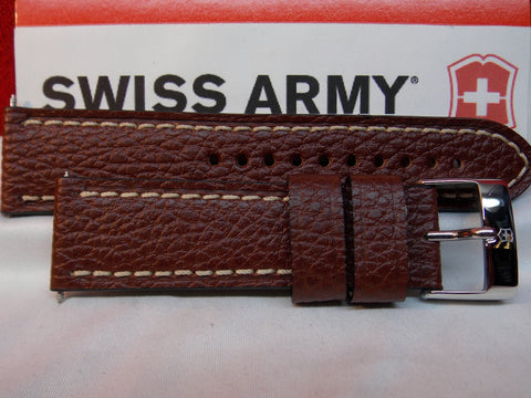 Swiss Army watchband Infantry 2TZ 23mm Wide 4mm Thick Brown Leather