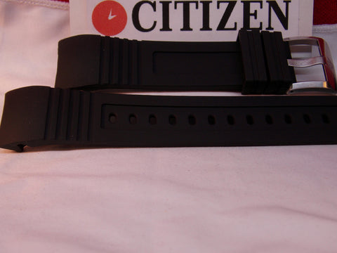 Citizen Watch Band BJ2128 -05E Black Rubber Strap Watchband For Sport Dive Watch