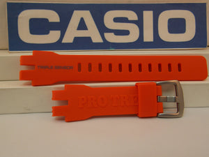 Casio watchband PRW-3000 -4 Orange Triple Sensor Pro Trek