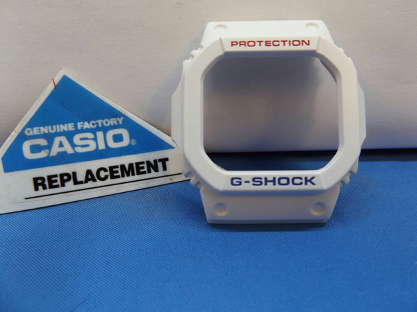 Casio Watch Parts GW-M5610 White Bezel. Red/Blue Printing Also fits GW-M5610TR-7