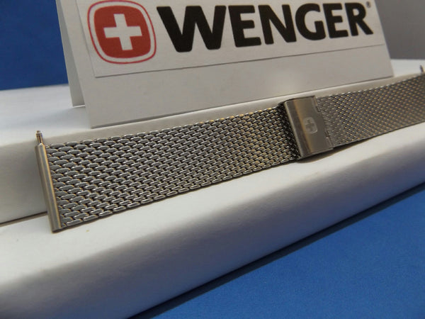 Wenger watchband 22MM Steel Thick Mesh Bracelet. Urban Classic.Clip Logo Buckle