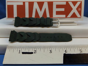 Timex watchband Braided Green 20mm Expedition Indiglo Leather  Mens