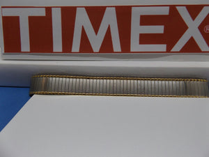 Timex watchband 14mm two Tone Expansion/Stretch Bracelet Gld/Silv Lds Watchband