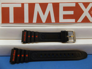 Timex watchband 19mm Ironman Black:Red Graphics . Original Watchband
