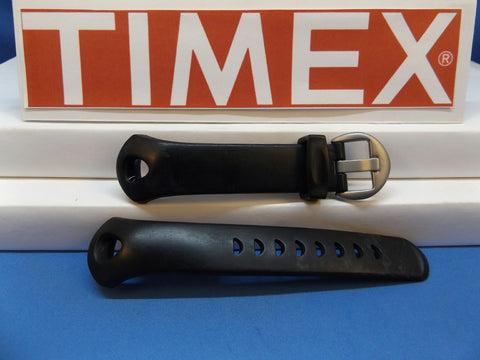 Timex watchband T17601 iControl Indiglo Black Resin .Watchband