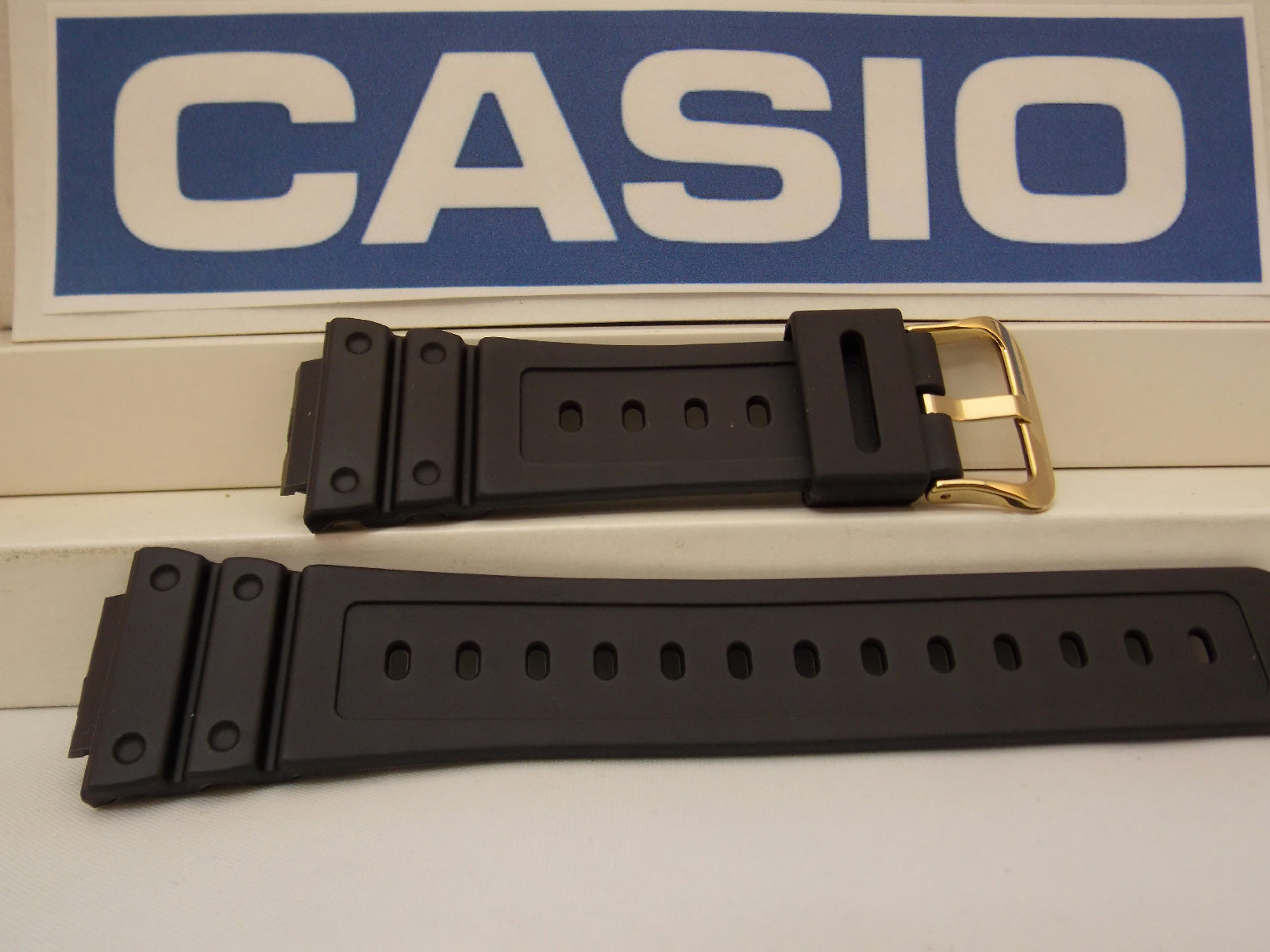 Casio watchband DW-5600 EG-9, DW-5600 P-1  W/Gold Tn Bkl.G-Shock Watchband