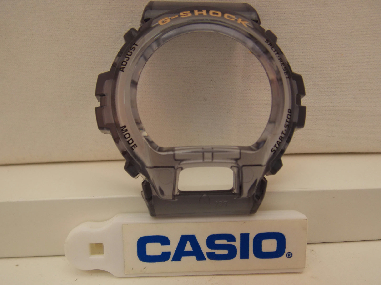 Casio Watch Parts DW-6900 FG-8 Smoke Gray Bezel/Shell W/Gold Tone Lettering