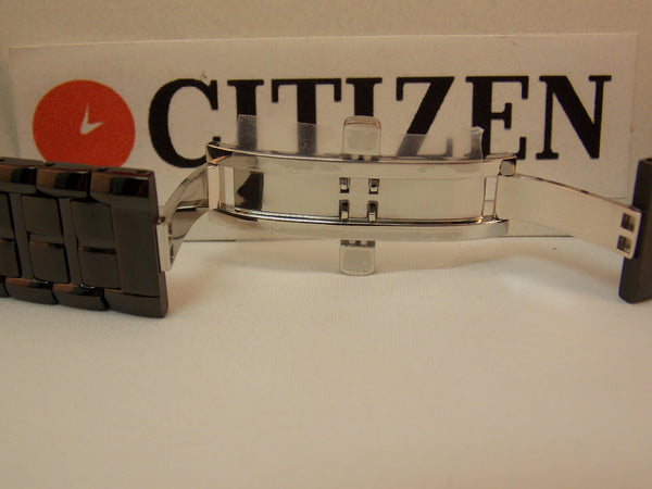 Citizen watchband E111-S049377 Black ION Steel Bracelet.Back Plate E111-S049377