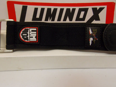 Luminox WatchBand Nylon Grip Black w/Red Logo 32mm Overall Width. Fit 22mm/Wider