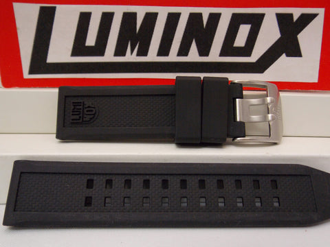Luminox Watchband 7050. 20mm Wide Black Rubber Strap. Thick, Durable and Soft