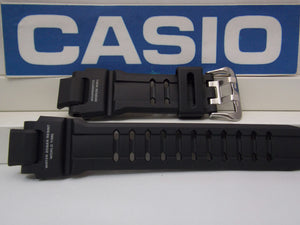 Casio Watchband GA-1100 -RG Black Rubber Strap Red ish Twin Sensor Graphics.