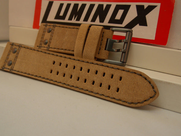 Luminox Watchband 26mm Atacama Light Tan Leather w/Outline Stitching